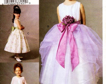 Sz 5/6/6X - Girls' Dress Pattern Vogue V7819 -  Girls' Special Occasion Dress in Three Options and Jacket - Vogue For Me - Vogue Patterns