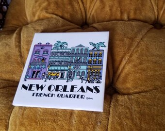 New Orleans French Quarter Tile