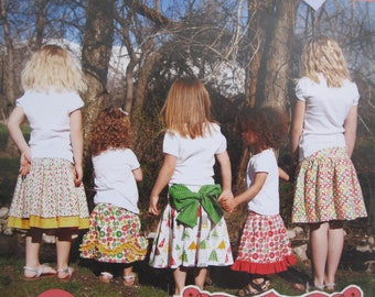 Addie Jo Skirt Pattern, Sizes 2T - 14, five variations included plus one sew in label, Izzy and Ivy Designs, 2010, detailed directions