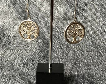Tree of Life Earrings - Silver