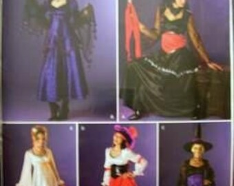 Misses Witch and Angel Costume Sewing Pattern Simplicity 0547  Bust 30-38 inches  Uncut Complete