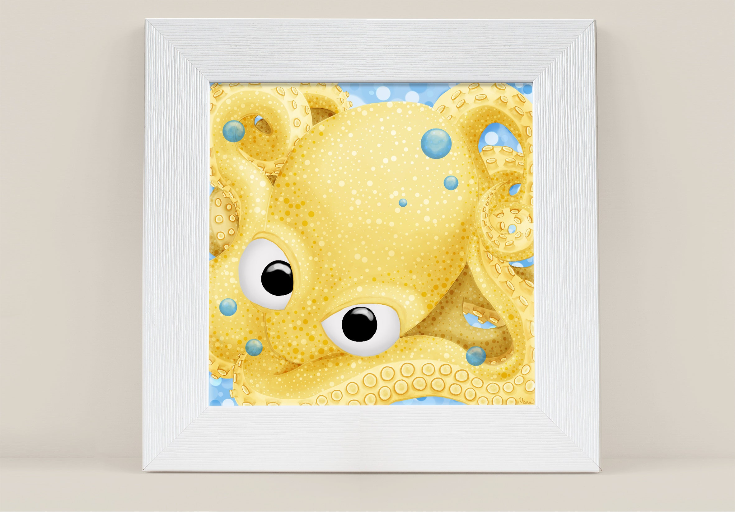 Octopus Print Cute Animal Print PRINTABLE ART Kids Decor