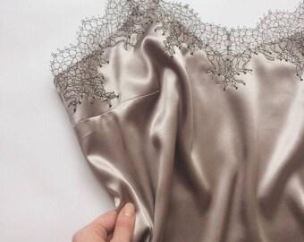 Silk top, silk lingerie, silk lingerie top, lace top, silk lace top, top with lace, lace lingerie, lingerie top