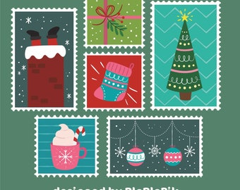 Letter from santa kit with envelope template red christmas christmas stamps postage stamp letter to santa kit set with envelope template santa spiritdancerdesigns