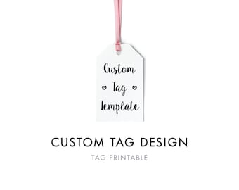 Custom Gift Tag Digital Template, Custom Favor Tag, Editable Gift Tag, Personalized Custom Gift Tags