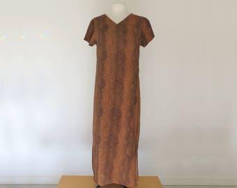 PYTHON // snakeskin print 90s dress with sheer overlay