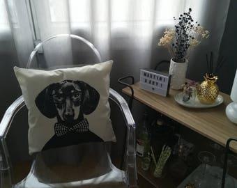 Design dog style Face pillow cushion retro Indoor