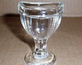 Clear Glass Eyewash Cup.