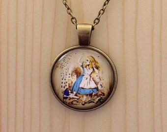 Alice in Wonderland necklace / Alice in wonderland jewelry / Alice in Wonderland jewellery