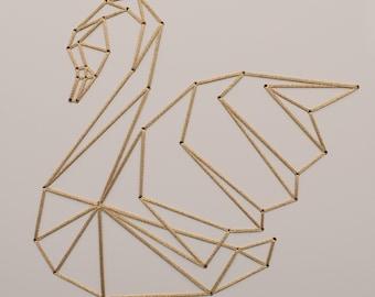 Schwan, Gold, geometrische