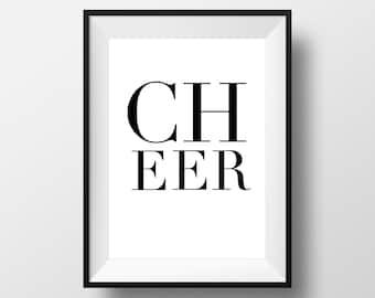 CHEER Digital Art Print | Cheerleader Gift