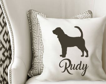 Personalized BLOODHOUND Pillow Cover
