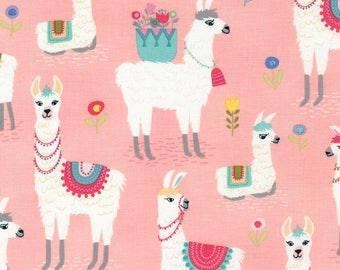 Alpaca Pink Timeless Treasures Fabric