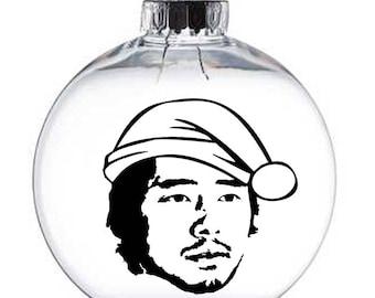 Glen Walking Dead Walker Zombie  Christmas Ornament Glass Disc Holiday Horror Merch Massacre