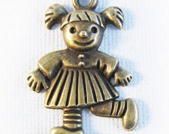 Little girl charm bronze