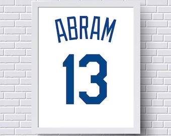 Jersey city baby etsy kansas city royals print poster baseball jersey gift for him personalized baby custom negle Image collections