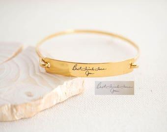 Handwriting Jewelry • Personalized Bangle • Custom Handwriting Bracelet • Keepsake Bracelet • Signature Bracelet • BM25