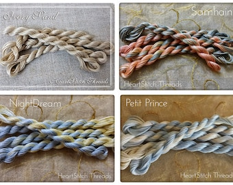 Antiquity Collection - Hand dyed Moulinè thread