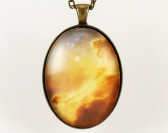 Galaxy Pendant, Universe Nebula Necklace, Cosmic Jewelry