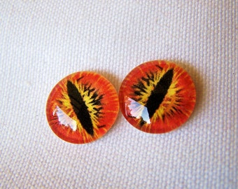Glass eyes 14mm cabochons for weird jewelry making