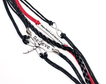 Dragonfly Inspirational Rope Bracelet