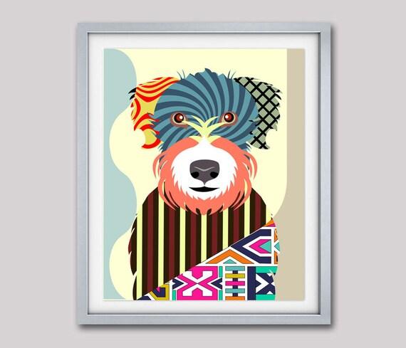 Wheaten Terrier Dog, Wheaten Terrier Art,  Wheaten Terrier Gift,  Wheaten Terrier Wall Decor, Soft Coated Wheaten Terrier Art
