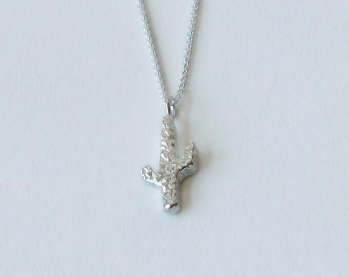 Cactus silver pendant