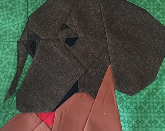 Dachshund Paper Piecing Pattern by Judy Gauthier