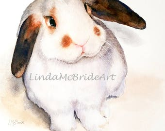 Lop Bunny 3.5x5 Blank Notecard with Envelope