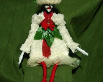 small art doll, christmas