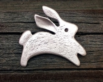 Rabbit Pin | Bunny Pin | Easter Bunny | Easter Rabbit | Bunny Jewelry | Rabbit Jewelry | Easter Jewelry | Easter Pin by Treasure Cast Pewter