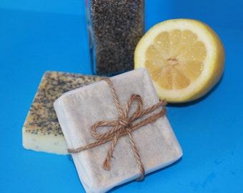 Lemon Poppy Seed Soap with Shea Butter 1 oz.