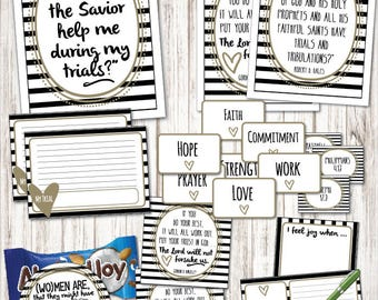 "March-LDS Young Women ""How can the Savior help me during my trials?"" Come, Follow Me lesson packets including printables, handouts, and more"
