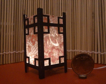 Heart. Japanese traditional kanji lamp, 1/12 miniature for dollhouses