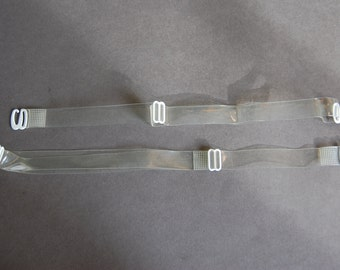 1 Pair Clear Premade Straps