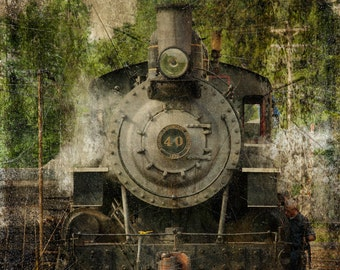Train Art. Fine Art Photography. Train Enthusiasts. Americana. Historic. Rustic. Wall Art. Home or Office Decor.