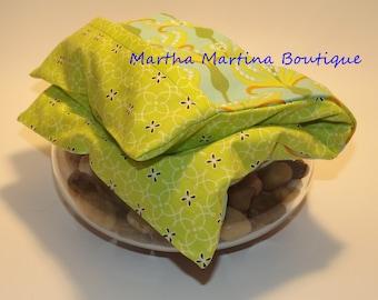 Ahhh-Maize-ing Corn Comfort Sak Multi Size Wrap 'Spring Breeze', Green, Blue, White, Microwave Corn Bag