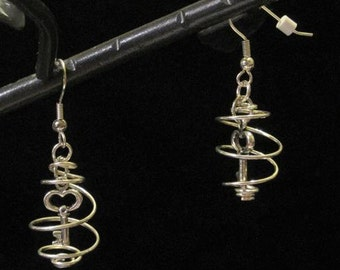 Keyswirl Earrings - choose your color or color combination of base metal