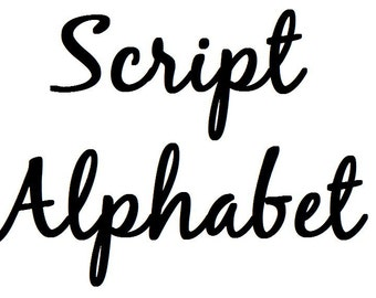 Instant Download - Script Alphabet Filet Crochet Cross Stitch Pattern