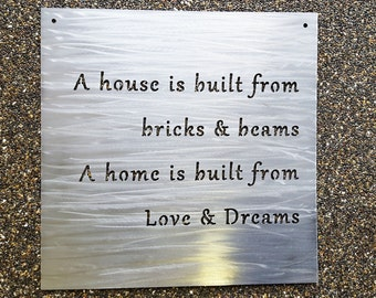 """Custom 18"""" Metal Sign- Your Own Quote or Words - Personalized Metal Wall Decor"""