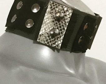 Leather choker