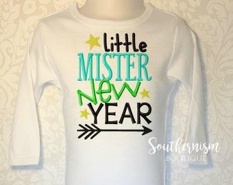 Boys New Year Shirt, New Year Shirt, Little Mister New Year, New Years Shirt, Personalized New Year Shirt, boys shirt, babys first new