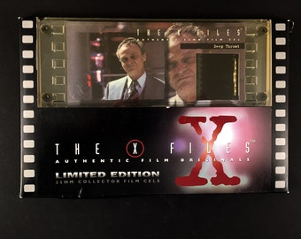 X-Files Deep Throat, 35 mm Film Cel, in Original Box, X-Files TV Series, 1990s, One of a Kind, Collectors Limited Edition
