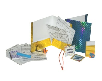 """School Supplies - Made to Fit American Girl / 18"""" Doll  - SCHOOL DOLL ACCESSORIES - Over a Dozen Pieces!!"""