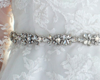 Bridal Belt Bridesmaid Belt Rhinestone Beaded Bridal Sash Belt Bridal Sash Bridesmaid Sash Wedding Dress Sash Wedding Dress Belt