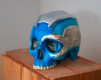 Deadpool skull sculpture