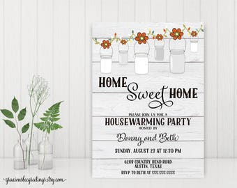 Home Sweet Home Invitations, Housewarming Party Invitations, New Home Party Invitations, Open House Invitations, Welcome Home Party, H32001