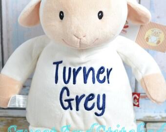 Personalized Stuffed Animal baby gift lamb, Monogrammed stuffed animal, monogrammed baby gift, baby girl lamb nursery decoration