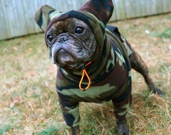 NEW! Snorf Industries: Adjustable-Hood BatHat Hoodie for Frenchies and Boston Terriers. Keep Bat-Ears Cute & Warm!