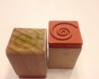 small swirl design rubber stamps, 16 mm (SB1)